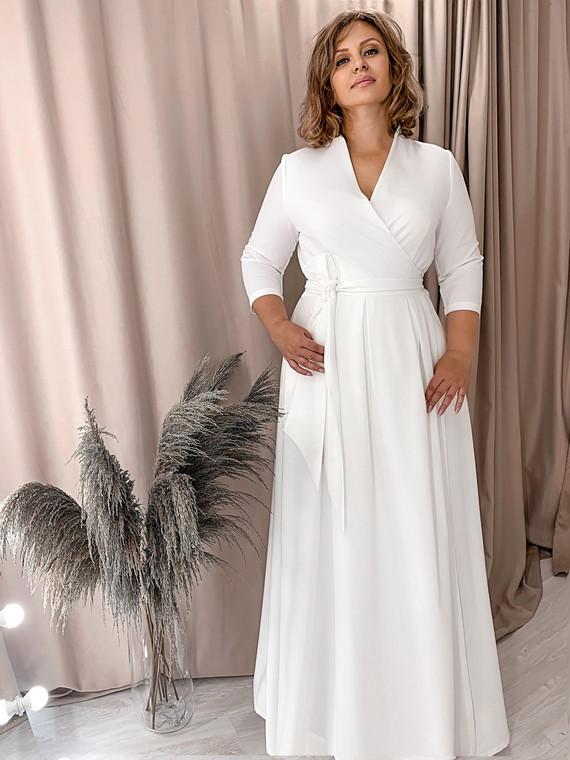 Свадебное платье на запах 1446