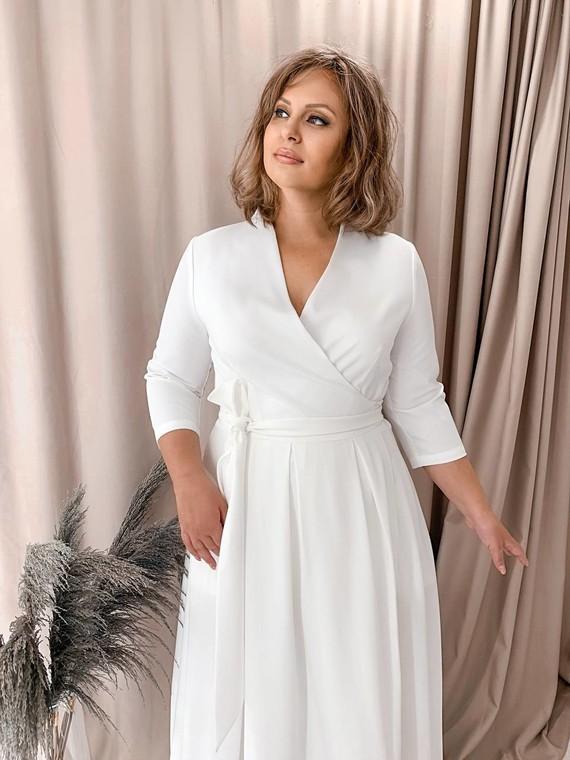 Свадебное платье на запах 1259